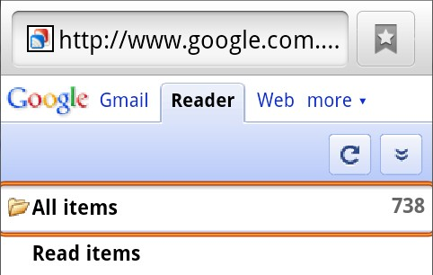Android browser highlighting pressed hyperlink